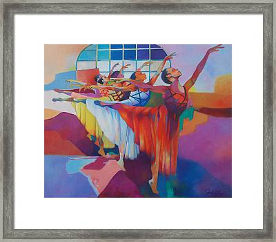 Body And Flow Framed Print