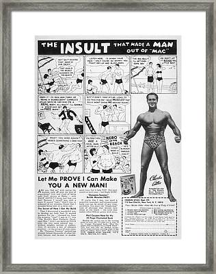Body-building Ad, 1962 Framed Print by Granger