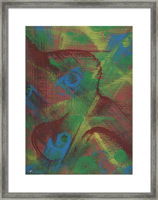 Body Fusion Framed Print by Cathy Minerva