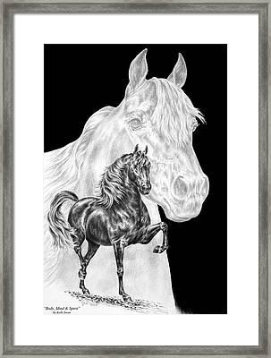 Body Mind And Spirit - Morgan Horse Print  Framed Print by Kelli Swan