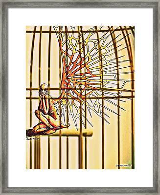 Body Modification Framed Print