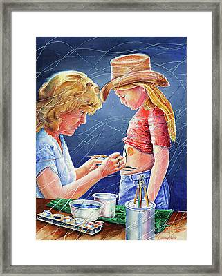 Body Paint At Hootin And Hollarin Framed Print