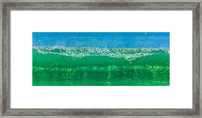 Body Surfing Framed Print by Paula Porterfield-Izzo