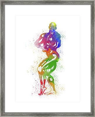 Bodybuilder Watercolor 2 Framed Print