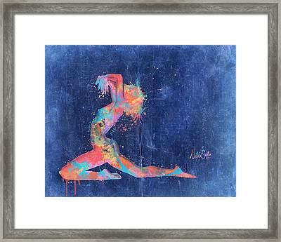 Bodyscape In D Minor - Music Of The Body Framed Print by Nikki Marie Smith