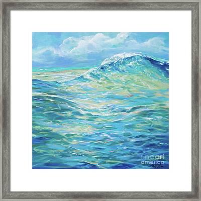 Bodysurfing Rolling Wave Framed Print