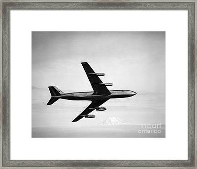 Boeing 707 Jet Airplane Framed Print by H. Armstrong Roberts/ClassicStock