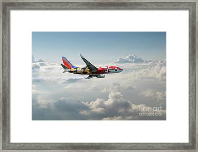 Boeing 737-700 Southwest Airlines Framed Print