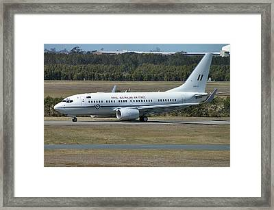 Framed Print featuring the photograph Boeing 737-7dt by Tim Beach