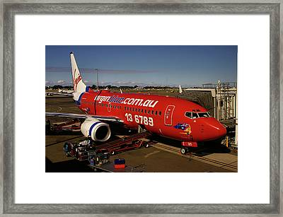 Framed Print featuring the photograph Boeing 737-7q8 by Tim Beach