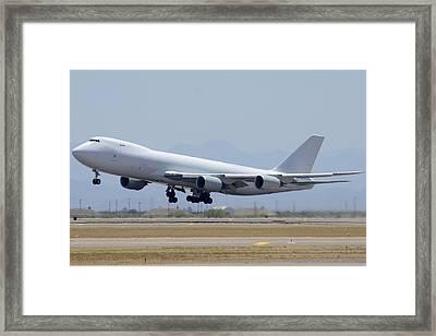 Boeing 747-8kzf N6009f Mesa Gateway Airport June 10 2011 Framed Print