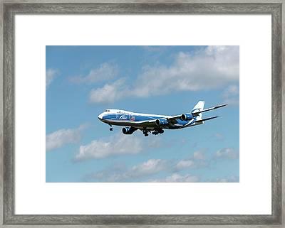 Boeing 747 Airbridgecargo Framed Print by Sergei Dolgov