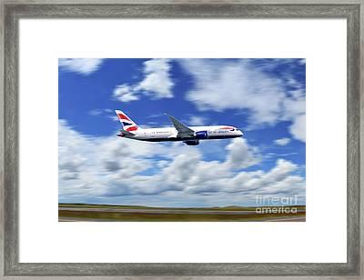 Boeing 787-8 Dreamliner British Airways  Framed Print