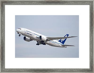 Boeing 787-8 N787za Mesa Gateway Airport November 11 2011 Framed Print