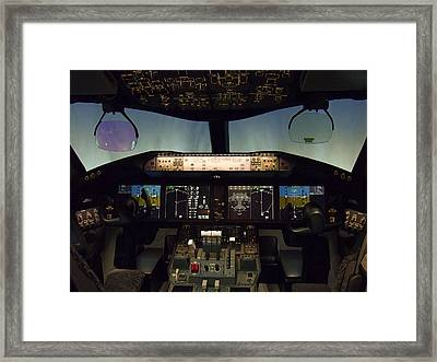 Boeing 787 Dreamliner Cockpit Framed Print by Daniel Hagerman