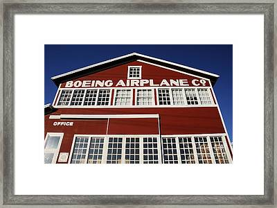 Boeing Airplane Hanger Number One Framed Print by David Lee Thompson