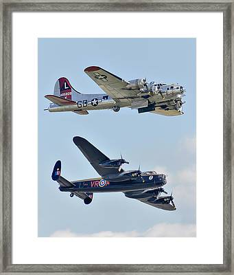 Boeing B-17g Flying Fortress And Avro Lancaster Framed Print