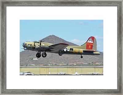 Boeing B-17g Flying Fortress N93012 Nine-o-nine Deer Valley Arizona April 13 2016 Framed Print by Brian Lockett