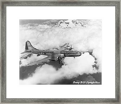 Boeing B-29 Superfortress Framed Print by Underwood Archives