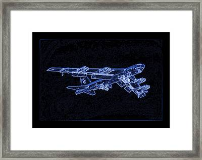 Boeing B-52 Stratofortress Enhanced Framed Print by L Brown