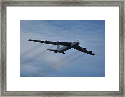Framed Print featuring the photograph Boeing B-52h Stratofortress by Tim Beach
