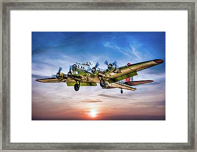 Framed Print featuring the photograph Boeing B17g Flying Fortress Yankee Lady by Chris Lord