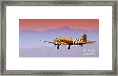 Boeing Douglas C-47 To Normandy June 6th 1944 Framed Print