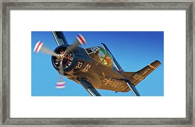 Boeing North American T-38 Race 66 Reno Air Races 2010 Framed Print