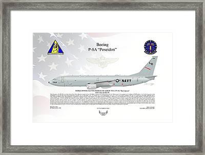 Boeing P-8a Poseidon Vp-10 Framed Print