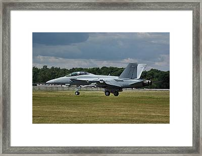 Framed Print featuring the photograph Boeing Super Hornet  by Tim Beach