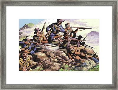 Boers Of The Transvaal Fighting At Majuba Hill During The First Boer War Framed Print