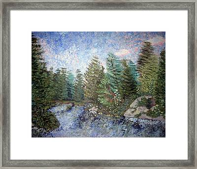Framed Print featuring the painting Bog River Morning by Denny Morreale