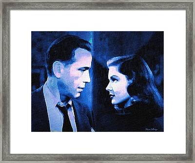 Bogart And Bacall - The Big Sleep Framed Print
