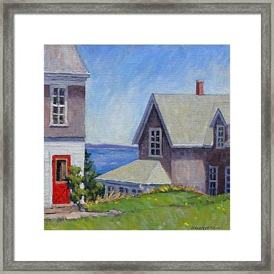 Bogdanov House Monhegan Framed Print by Thor Wickstrom