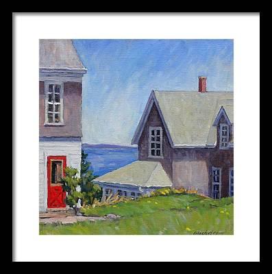 Old Maine Houses Framed Prints