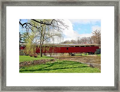Bogert Covered Bridge Framed Print