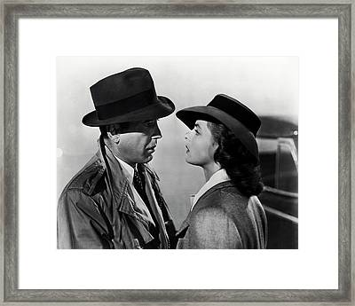Bogey And Bergman Casablanca  1942 Framed Print