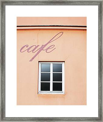 Bohemian Cafe- By Linda Woods Framed Print