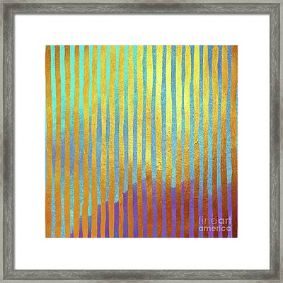 Bohemian Gold Stripes Abstract Framed Print