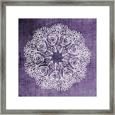 Boho Floral Mandala 2- Art By Linda Woods Framed Print