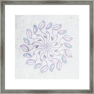 Boho Floral Mandala 3- Art By Linda Woods Framed Print