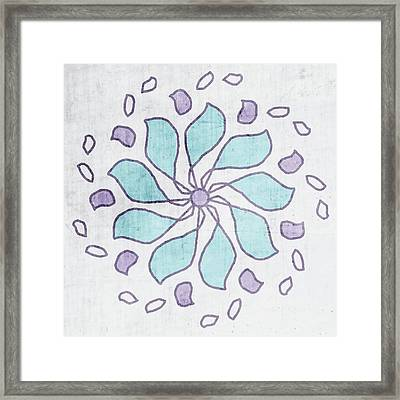 Boho Floral Mandala 4- Art By Linda Woods Framed Print
