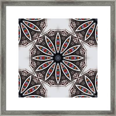 Boho Flower Framed Print by Mo T
