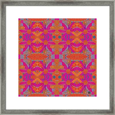 Framed Print featuring the painting Boho Hippie Garden - Pink by Lisa Weedn