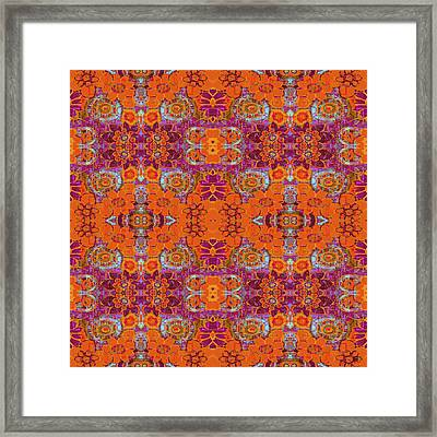 Boho Hippie Garden - Tangerine Framed Print