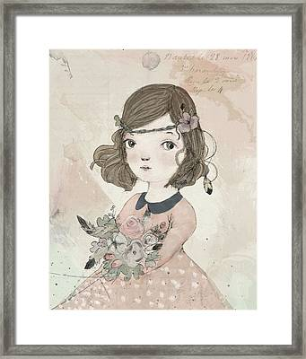 Boho Little Girl Framed Print by Paola Zakimi