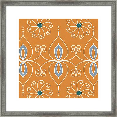 Boho Ornamental 1- Art By Linda Woods Framed Print