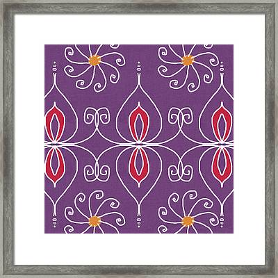 Boho Ornamental 2- Art By Linda Woods Framed Print