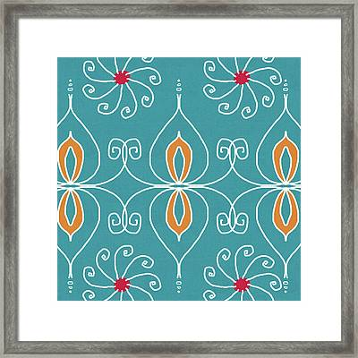 Boho Ornamental 3- Art By Linda Woods Framed Print