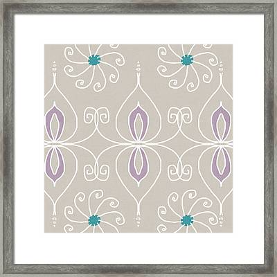 Boho Ornamental 4- Art By Linda Woods Framed Print